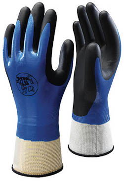 Liquid-Resistant Nitrile Coated Glove (XL, LG, MD)