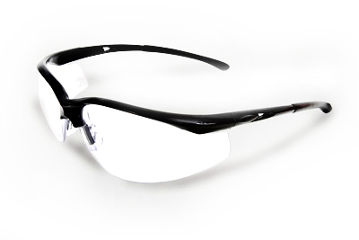 Radnor Select Series Safety Glasses Black Frame, Clear Anti-Scratch Lens