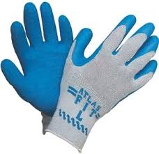 Rubber Palm Coated Glove (XL, LG, MD, SM)