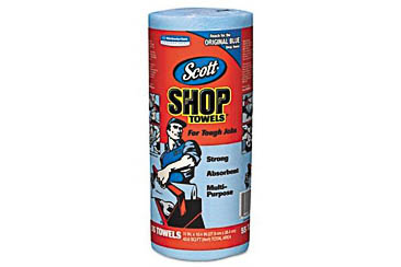 Blue Shop Towels, 1 Roll, (55 Towels)