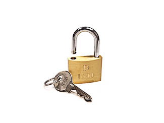 Brass Padlock, D1600, Keyed Alike