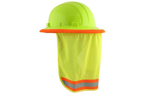 Neck Sun Shield For Hard Hats w/ Hi Visibility Mesh